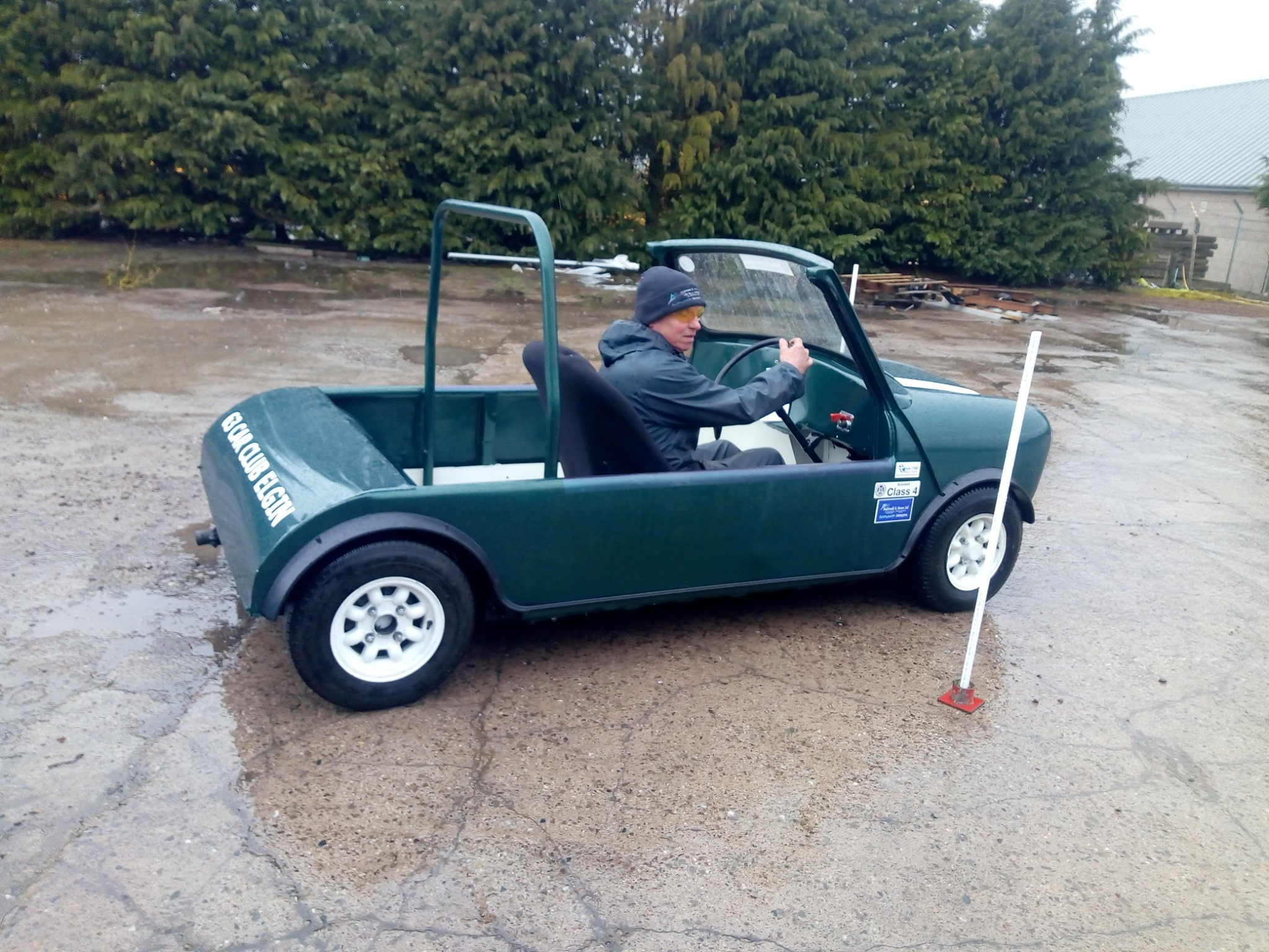 James Morrison 2019 Champion in his mean and roofless Mini special